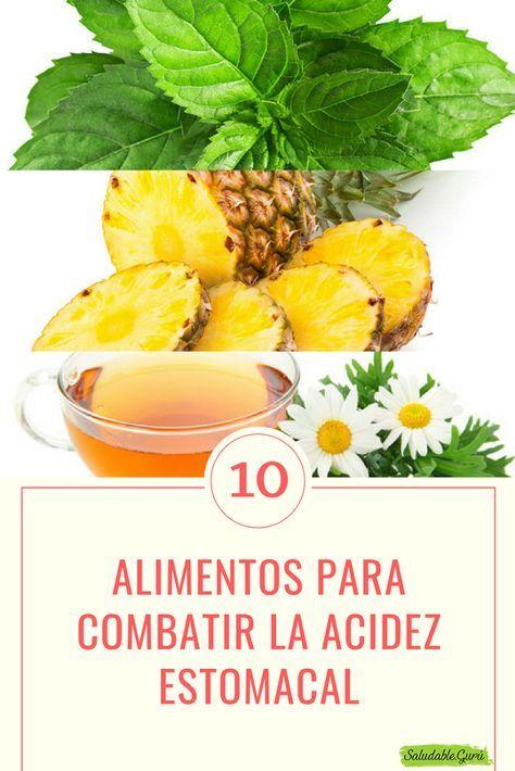 dieta para el reflujo y acidez estomacal