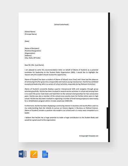 Leadership Letter Of Recommendation from i.pinimg.com