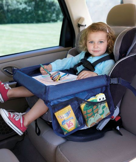 Genius! On The Go Play 'n Snack Tray for car seat only $9.95.  I've been looking for something like this!