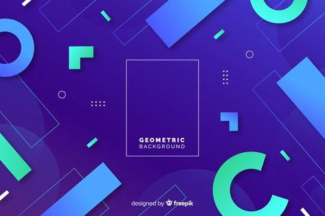 Download Geometric Background With Gradients for free