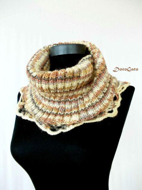 PDF DOWNLOAD Crochet & knit cowl pattern knit cowl by PatternsDG $4.99