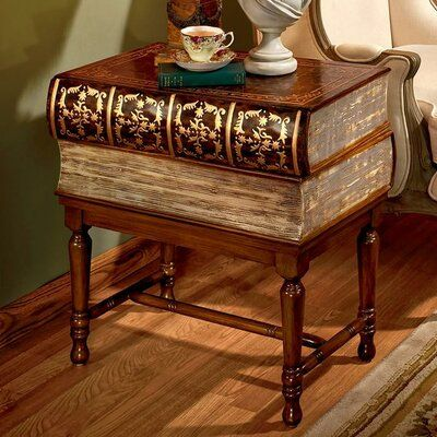 Design Toscano Stacked Books Of Shakespeare Wooden End Table End