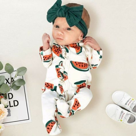 $12.16 & FREE Shipping Warm Cotton Long Sleeve Romper Jumpsuit with Watermelon Pattern #100%CottonBabyClothes #BabyAutumnClothes #BabySpringClothes #CasualStyleBabyClothes #cutebaby #babymodel #babyclothes #babyfashion #blubambina