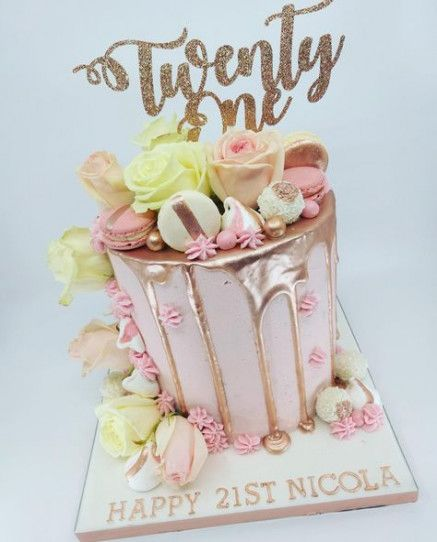 New Cake Birthday Drip Gold Ideas Cake Birthday With Images