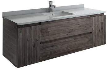 Fresca Formosa Wall Hung 59 Single Bathroom Vanity Base Only