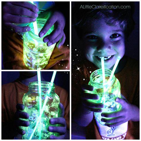 DIY Glow Jars with ALittleClaireification.com #PlaidSummerKids #Crafts #DIY
