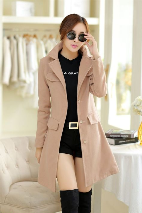 >>>Cheap Sale OFF! >>>Visit>> Cheap wool boots for women Buy Quality coated glass directly from China wool cape coat Suppliers: New 2015 Fashion Abrigos Mujer Female Overcoat Casacos De Inverno Sobretudo Femininos Women Autumn Winter Wool CoatUSD 4