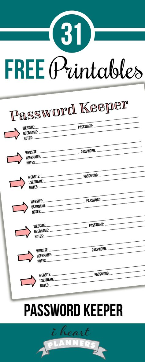 Free Printable Password Tracker! #passwordkeeper
