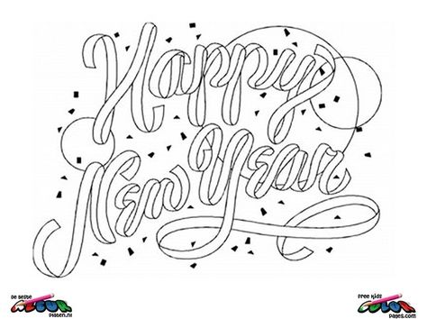 New Year S Eve Coloring Pages New Year S Eve Coloring Page New