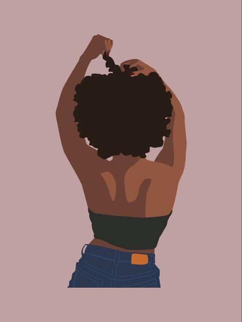 African woman fashion art print black girl magic art | Etsy