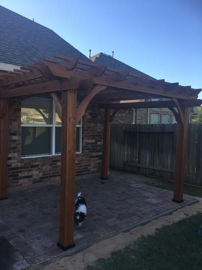 Backyard Discovery 10 Ft X 12 Ft Cedar Pergola 6214com The Home Depot Pergola Plans Pergola Patio Outdoor Pergola