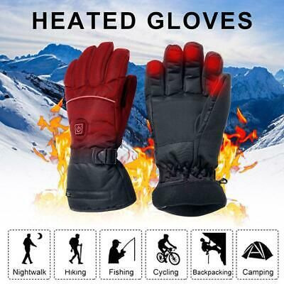 Details About Electric Heated Gloves Hands Warm Winter Warmer Rechargeable Battery Waterproof Heated Gloves Gloves Warm Gloves