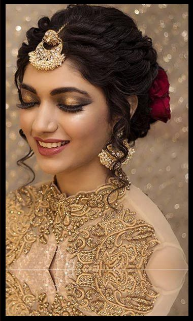 Elegant Long Short Wedding Hairstyles For Cool Brides Bridal Hairstyle Indian Wedding Short Wedding Hair Indian Wedding Hairstyles