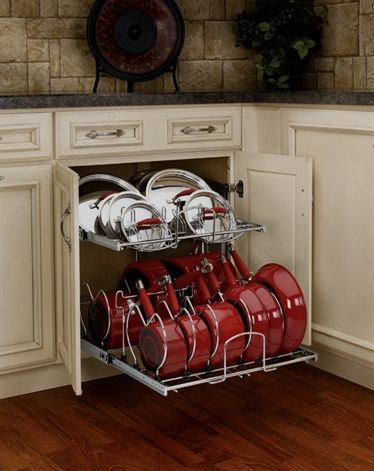 Two Tier Chrome Cookware Organizer For A 24 Base Cabinet In 2020