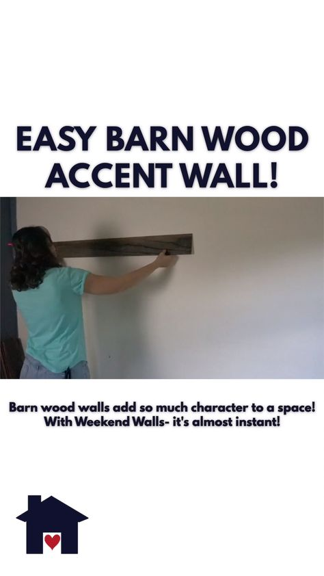 The easiest barn wood accent wall EVER! Use these peel and stick wood strips and get instant character in your room! This tween room just got a makeover!