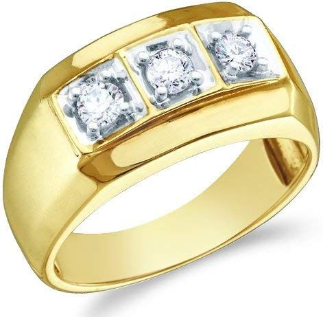 G-H,I2-I3 1//5 cttw, Diamond Wedding Band in 10K Yellow Gold Size-4.25