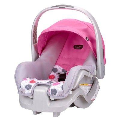 Evenflo Nurture Infant Car Seat Pink Bloom Baby Car Seats Car Seats Best Car Seats