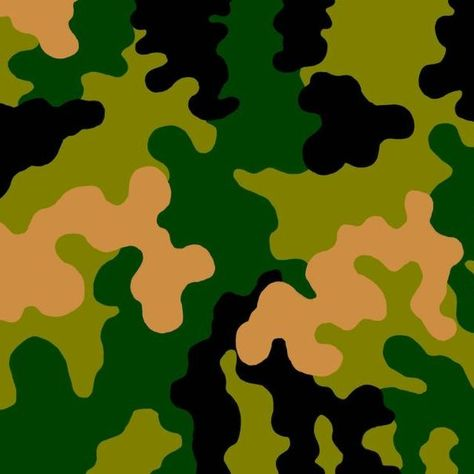 Draw a camo pattern freehand to create a stencil or use a template from nature.