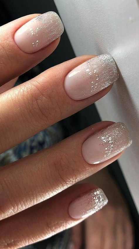 cute and beautiful glitter nail designs for brides #wedding #weddings #weddingnail #bridenail #bridalnail #naildesign #nailart