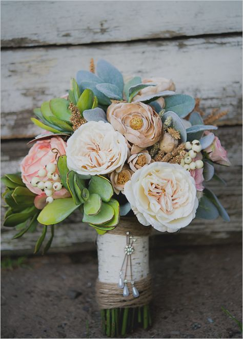 would you believe us if we told you that these were silk flowers in this wedding bouquet? Step by step instructions.