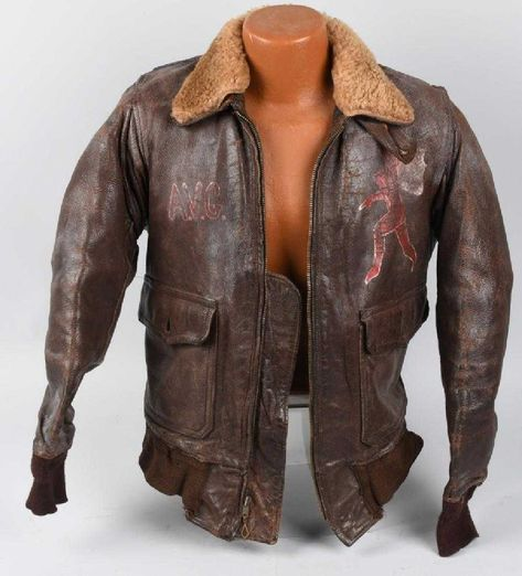 WWII US HELL'S ANGELS / AVG PAINTED FLIGHT JACKET