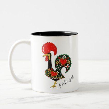 Galo De Barcelos Portuguese Rooster Two Tone Coffee Mug Zazzle Com Mugs Traditional Mugs Coffee Mugs