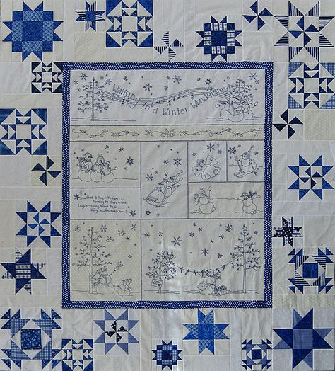 I have this pattern; I think I'll do it in cranberry reds...  winter wonderland quilt   quilt top was made from the Crabapple Hill pattern Winter Wonderland ...