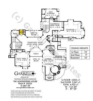 Lightkeeper's House Plan - Garrell ociates, Inc.   House ... on history house, hunting island light keeper house, pet shop house, hamster house, photography house, first light house, dog kennel house,