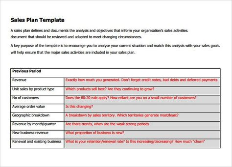 sales plan template sales plan template Pinterest Template - sales plan pdf