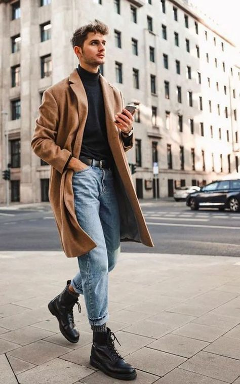 27 Winter Outfit Street Style for Men Trend