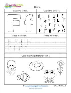 Abc Worksheets Letter F Alphabet Worksheets With Images