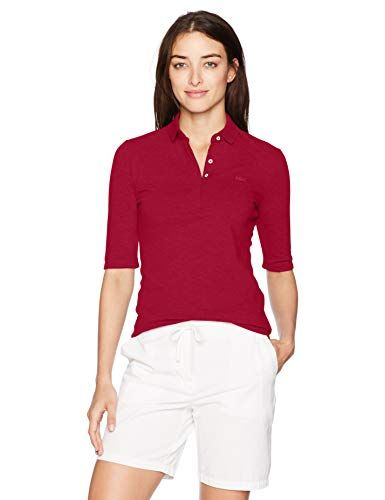 0c269cd7 Lacoste Women's Classic Half Sleeve Slim Fit Stretch Pique Polo ...