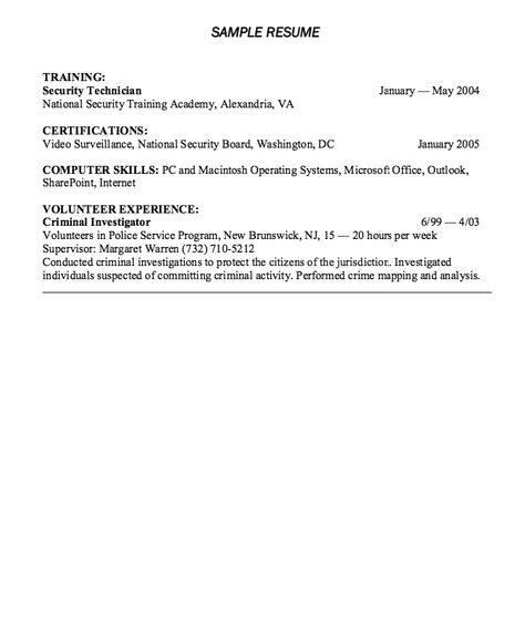 Corporate Security Resume Example - http\/\/resumesdesign - security resume examples