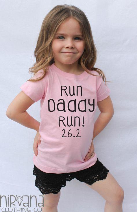 Run Daddy Run 26.2 or 13.1 Marathon Motivation