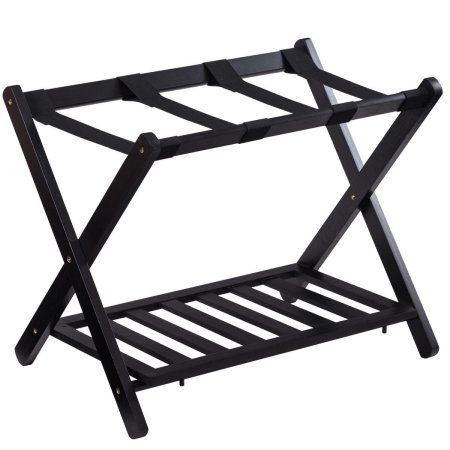 Clothing Suitcase Stand Luggage Rack Wood Stand