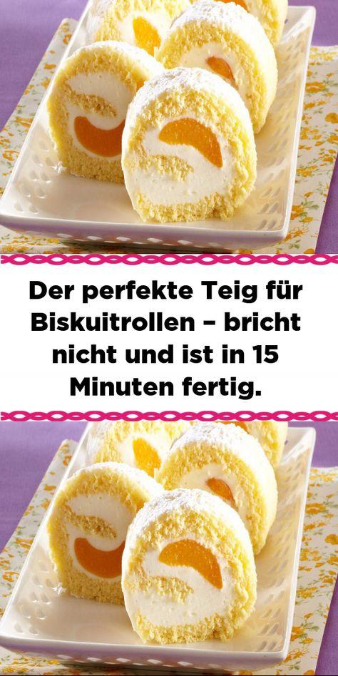 Zutaten : Für den Teig: 6 St.Eier 120 gZucker 90 gMehl Zum Füllen: eine Creme (z.B. gesüßter Quark) beliebiges Obst – z.B...