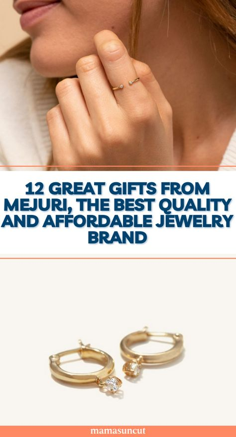 If you are in the mood for new quality, yet affordable, jewelry, or if you're in need of a gift, Mejuri is the place you need to go to!