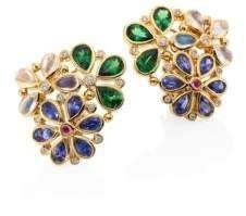 Temple St  Clair Flower Cluster Diamond & Semi-Precious
