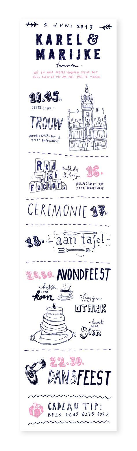 Wedding inspiration invitation