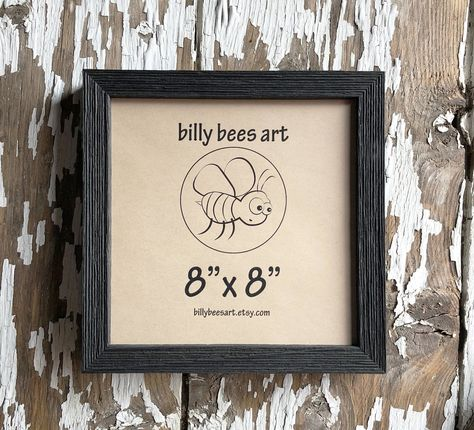 Wood 3 4 Black Barnwood 5x5 6x6 8x8 Square Etsy Rustic Photo Frames Rustic Pictures Barn Wood Picture Frames