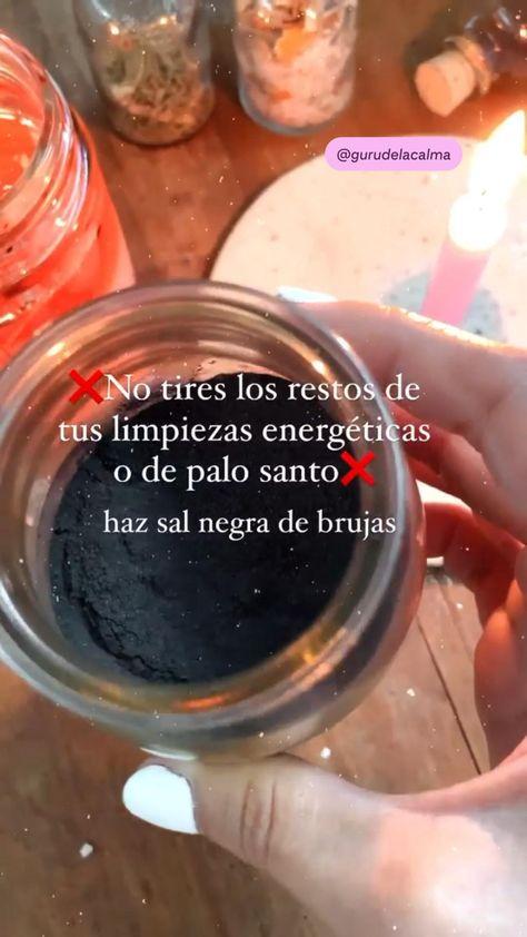 NO TIRES LOS RESTOS DE TUS LIMPIEZAS ENERGÉTICAS ✨ haz sal negra de brujas