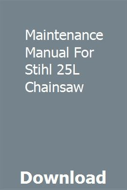 Maintenance Manual For Stihl 25l Chainsaw Frankenstein Study Guide Study Guide Chemistry Study Guide