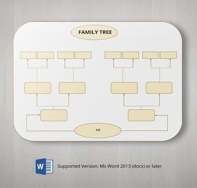 Free - Family tree template 5 generations printable empty to fill - family tree template in word