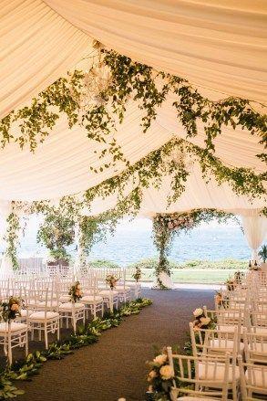 Blush And Greenery Tent Wedding Flora
