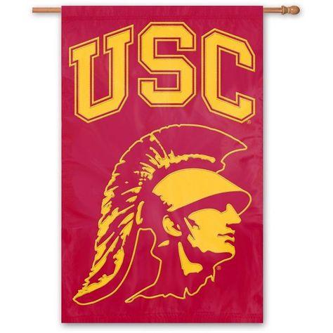 Usc Trojans Banner Flag Usc Head 42