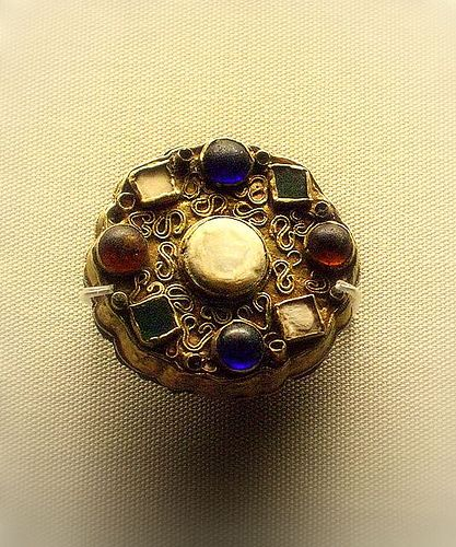British Museum - jewellery  7c Merovingian disc brooch