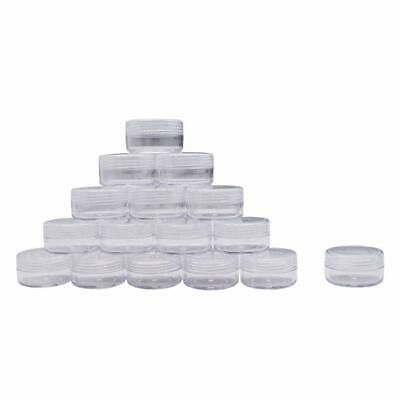 Details About 100 Pieces 10 Gram Empty Plastic Cosmetic Containers Clear Round Sample Pot Jar In 2020 Cosmetic Containers Powder Nails Container