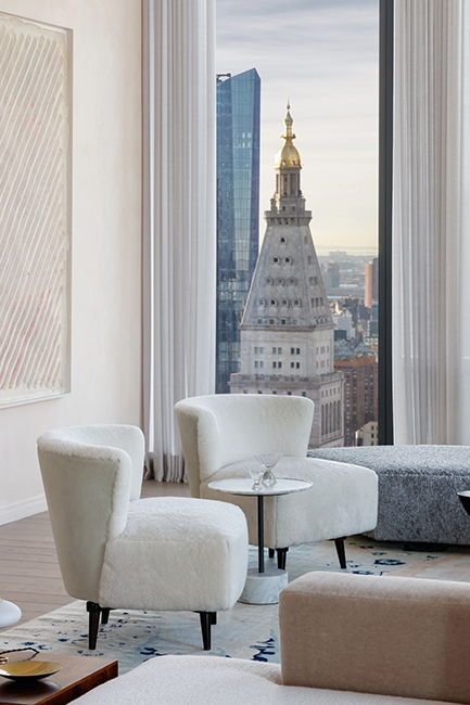 New York Penthouse Has The Best Views Of New York City In 2020 New York Penthouse Private Dining Room Interior