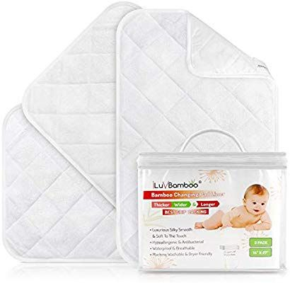 Amazon Com Changing Pad Liners Best For Baby Diaper Changing Table Extra Soft Bamboo White Waterproof Liner Changing Pad Liner Baby Diapers Diaper Changing