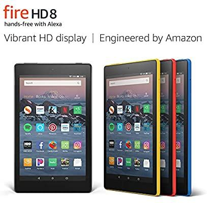 Amazon Com Fire Hd 8 Tablet Up To 10 Hours Of Battery Vibrant Hd Display Hands Free With Alexa Tablet Fire Tablet Amazon Fire Tablet